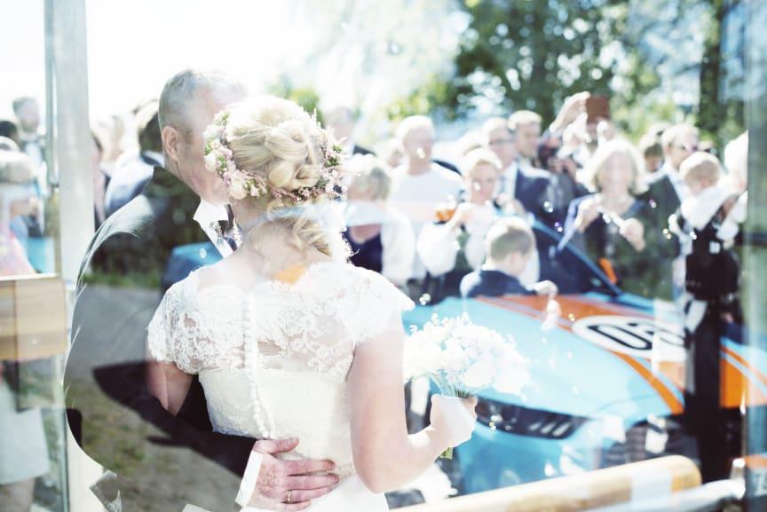 Ford Mustang en yndet bil under brylluper