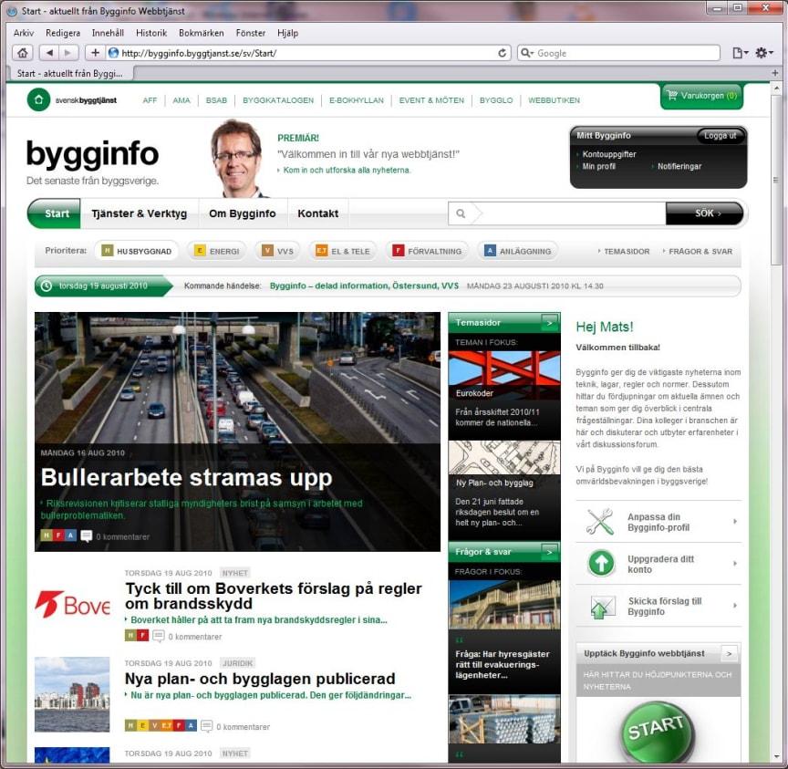 Skärmdump Bygginfo webb