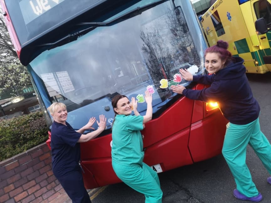 NHS staff at last week's Freeman Hospital celebrations