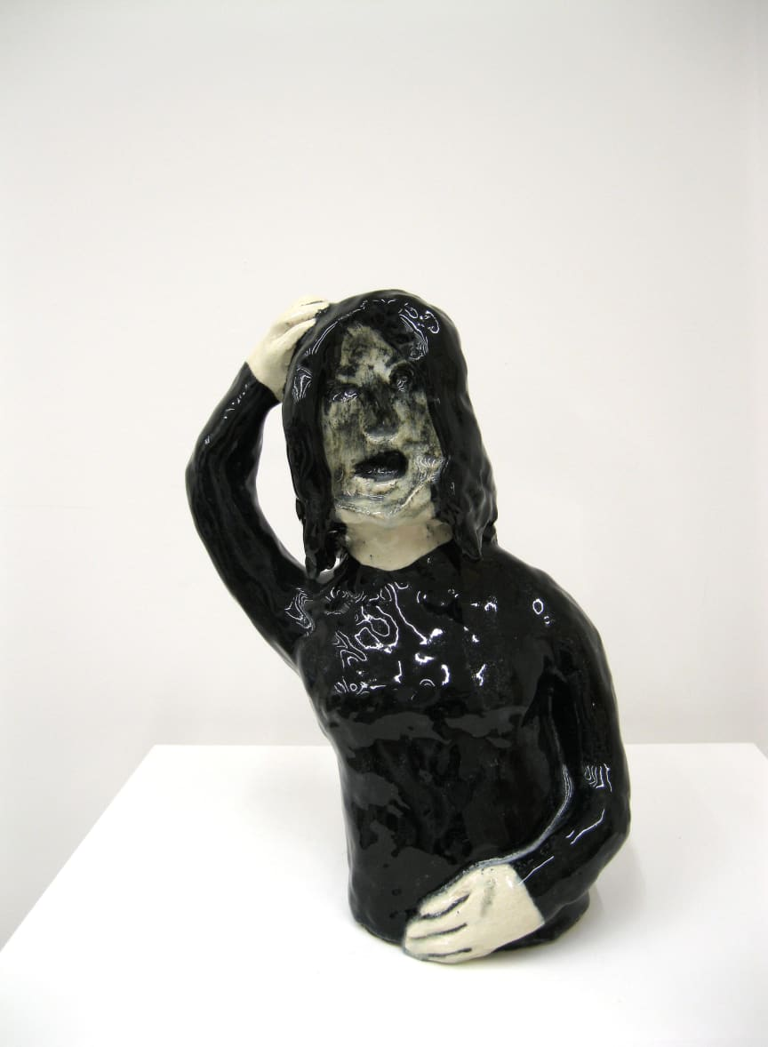 Klara Kristalova, Avigon girl, 2009. Glazed stoneware. Courtesy of Alison Jacques Gallery