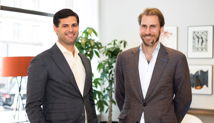 Jonathan Klein (CEO, Co-founder of Brocc) and Patrik Gunnarsson (CBO, Co-founder of Brocc).