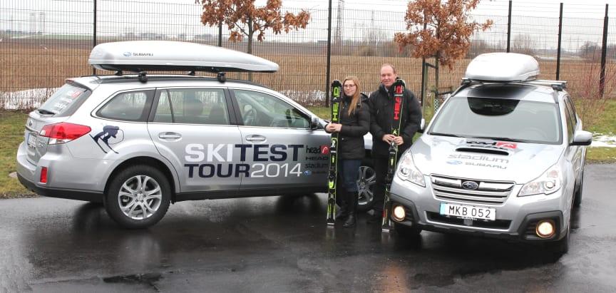 Subaru Outback säkrar Head Ski Test Tour 2014