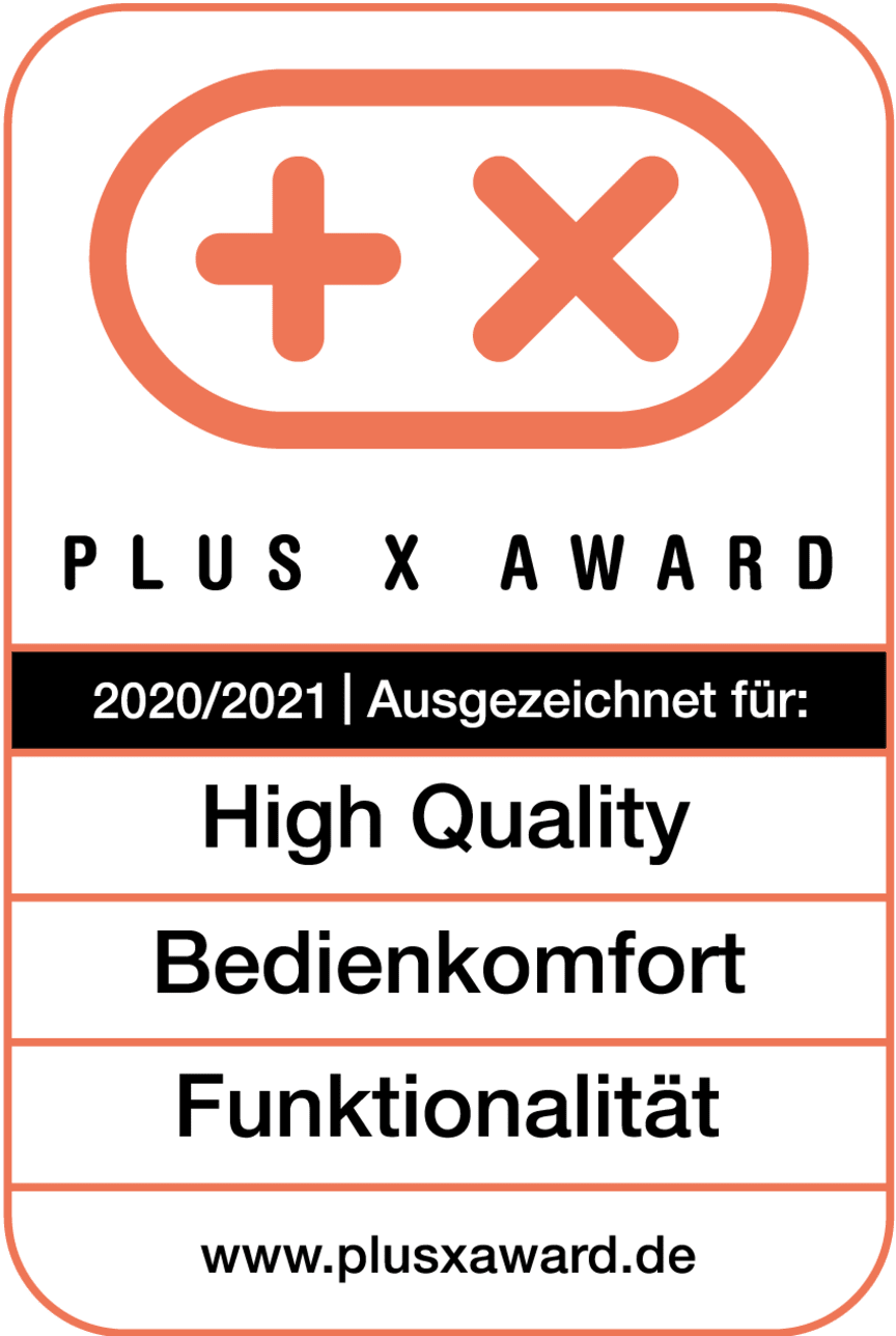 PlusXAward_Logo_High_Quality_Bedienkomfort_Funktionalitaet_2020_RGB_Weiß