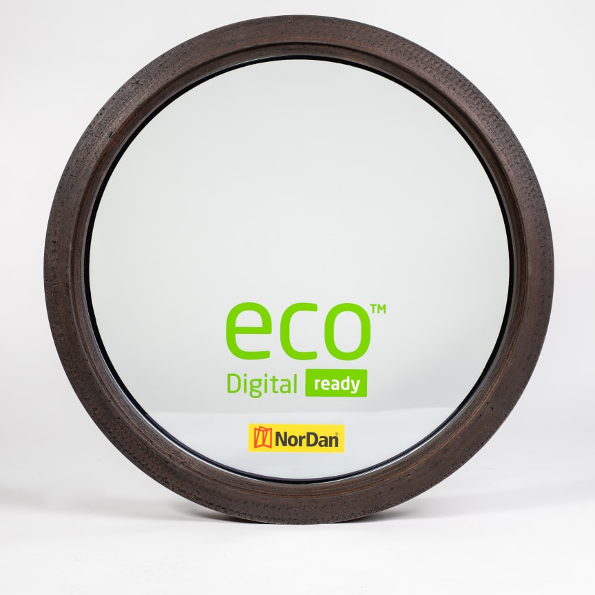 3D-printat fönster i Biokomposit
