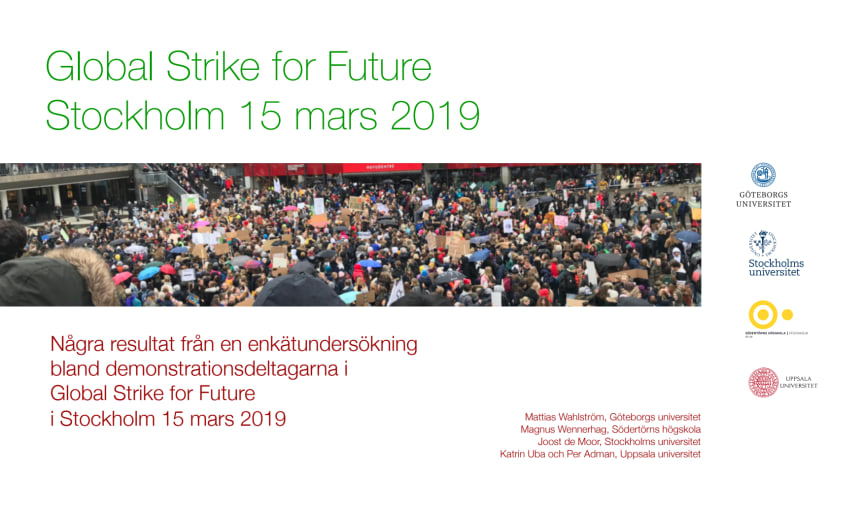 Global Strike for Future Stockholm 15 mars 2019