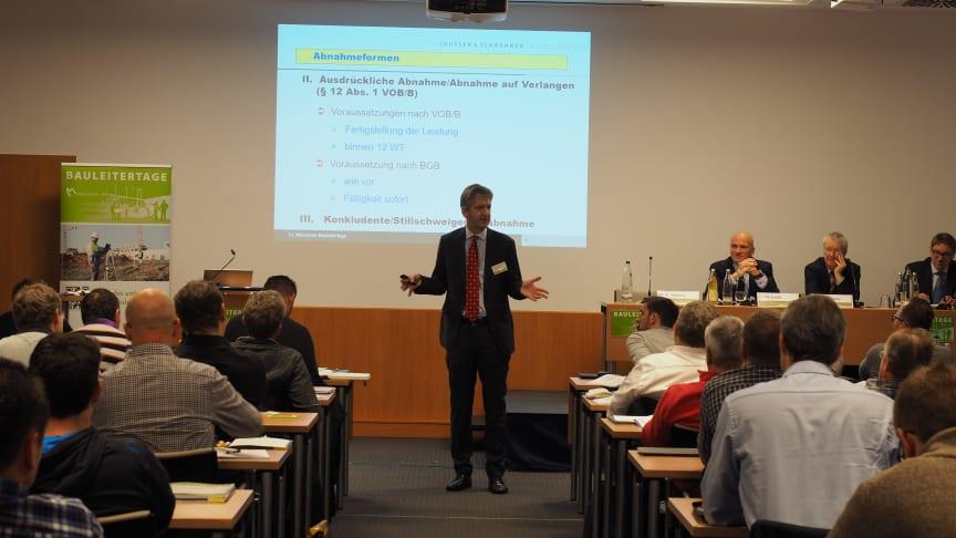 Bauletertage: RA Dr. Edgar Joussen ist spezialisiert auf das private Bau-, Vergabe- und  Architektenrecht.