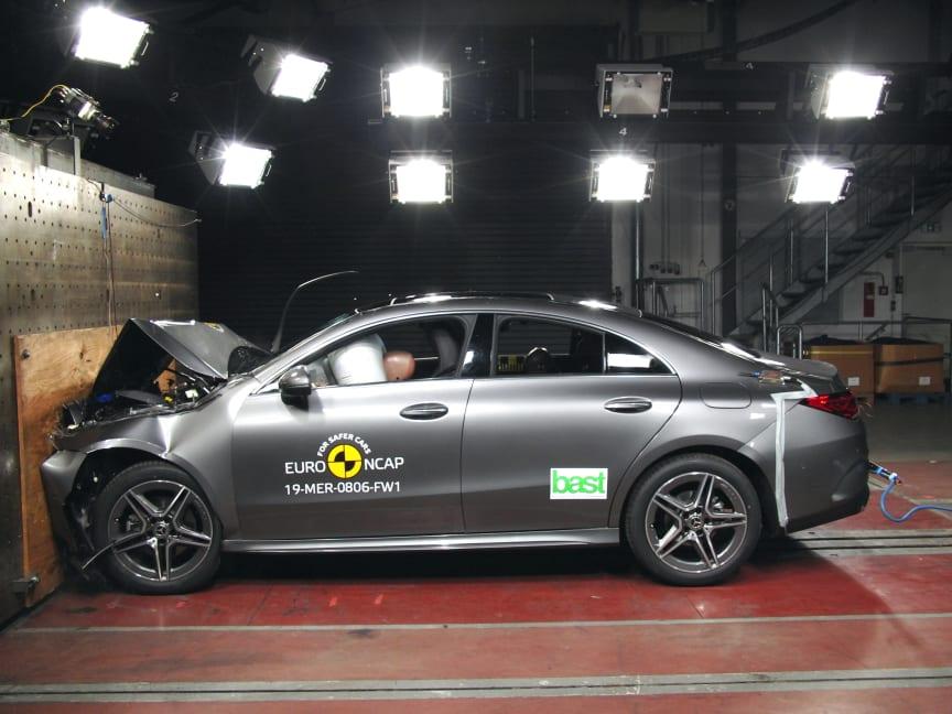 Mercedes-Benz CLA 2019 i EuroNCAP's krocktest
