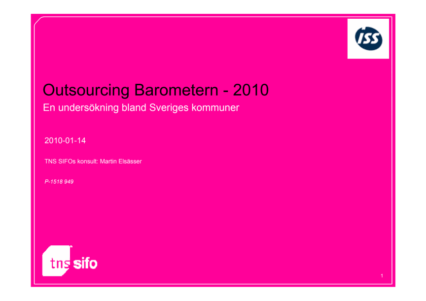 ISS Outsourcingbarometern 2010