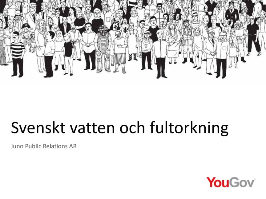 Undersökning om fultorkning, Svenskt Vatten, 2017