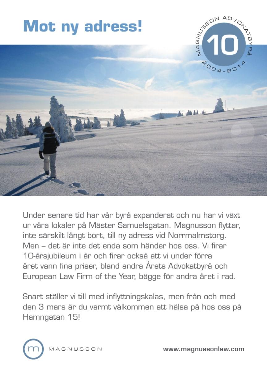 Magnusson i Stockholm flyttar till nytt kontor