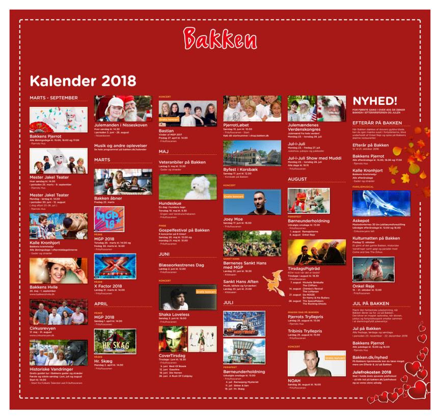 Bakkens eventkalender sommersæsonen 2018
