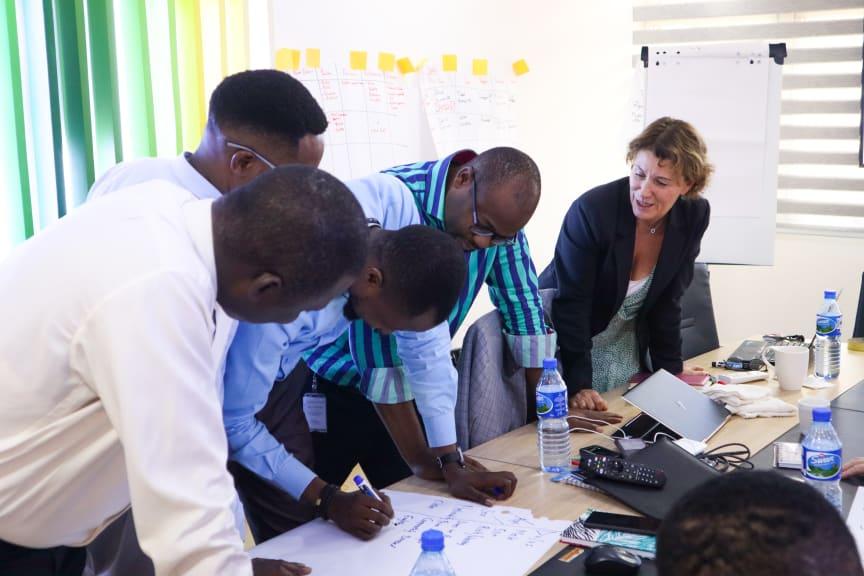 Gunilla workshopping it with CAP team in Lagos, Nigeria