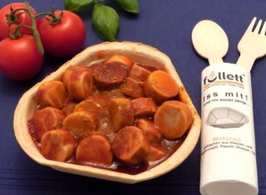 Fülett,  essbare Schalen für Currywurst & Co.
