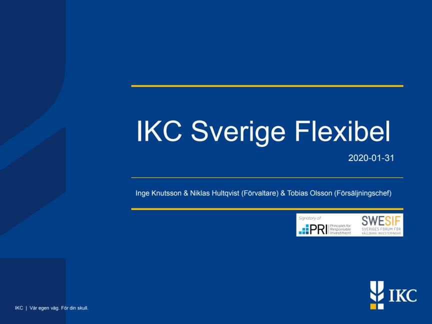 IKC Sverige Flexibel presentation 20200131