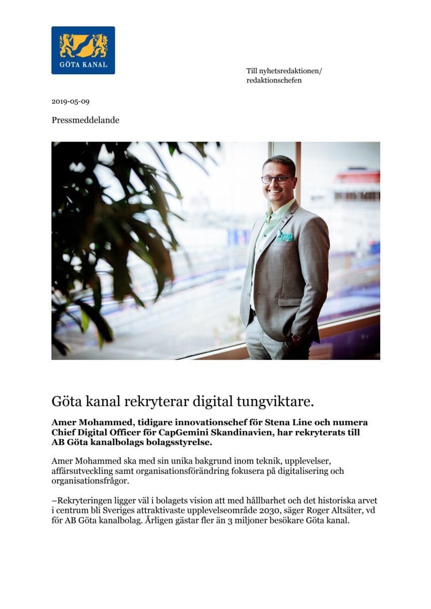 Göta kanal rekryterar digital tungviktare.