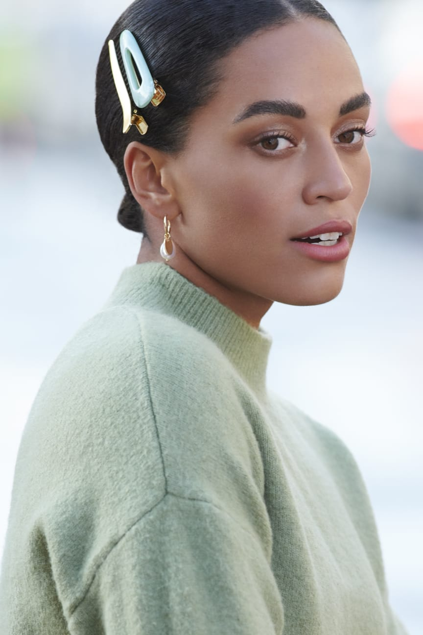 Hair clips model pic
