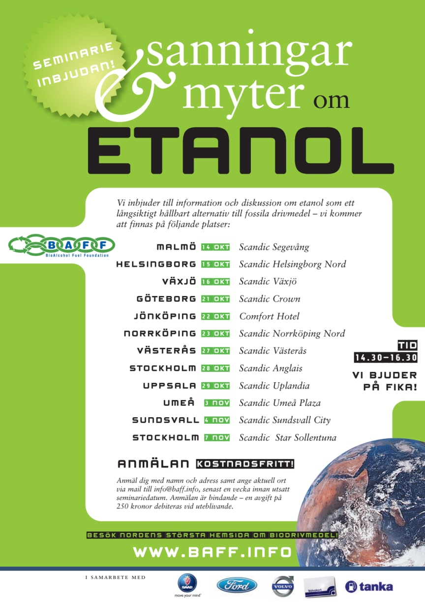 BAFF: Sanningar och myter om ETANOL