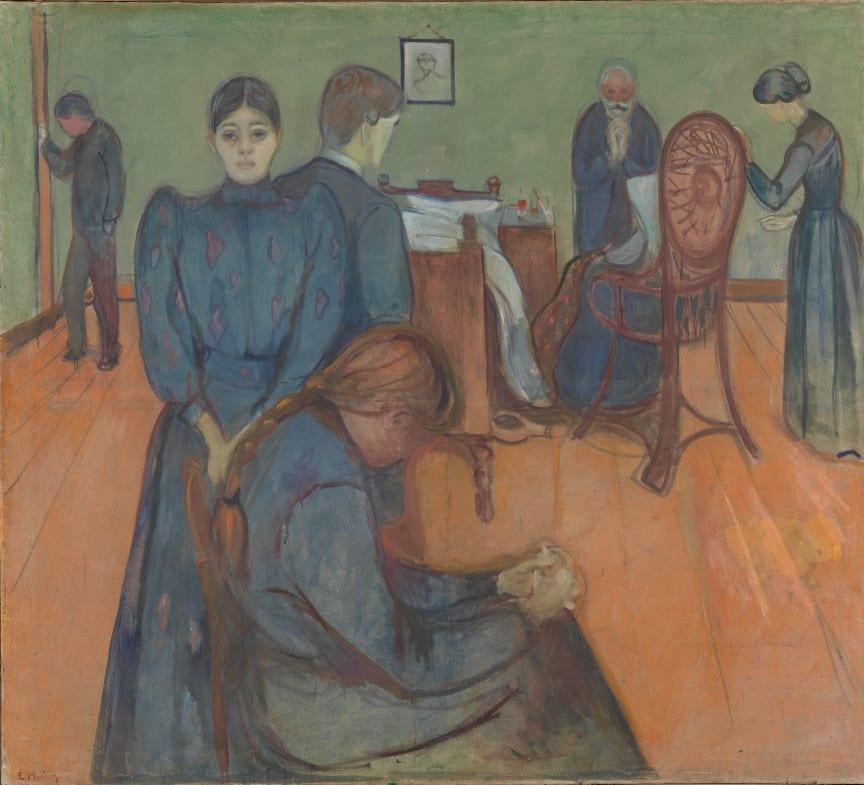 "Edvard Munch, ""Death in the Sickroom"", Prob. 1893."