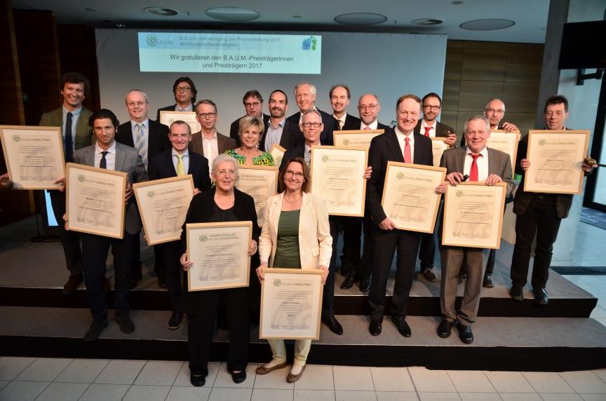 Preisträger des B.A.U.M.-Umweltpreises 2017