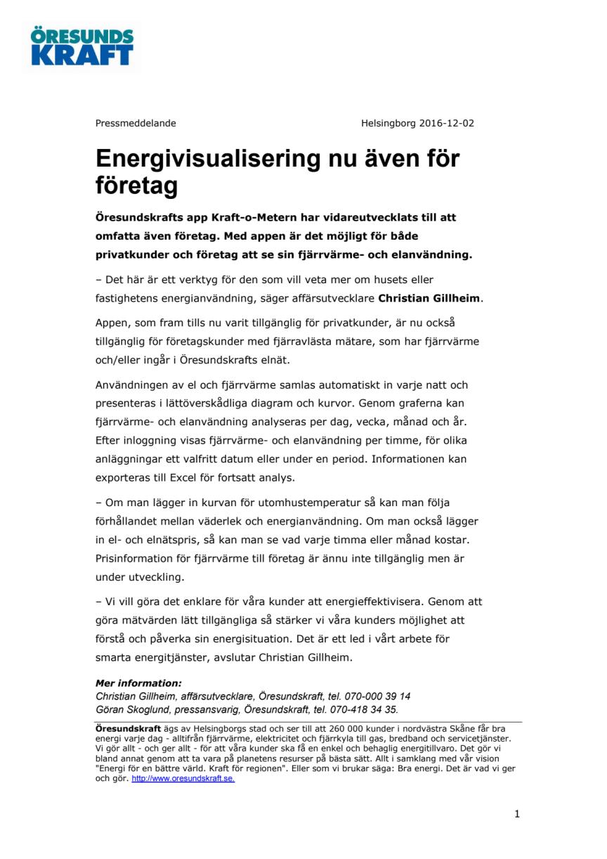 Energivisualisering nu även för företag