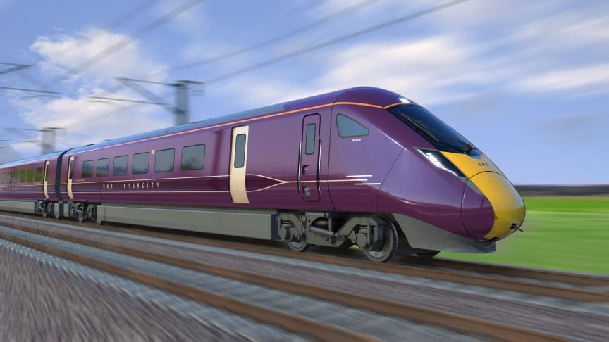 Hitachi train for East Midlands Railway