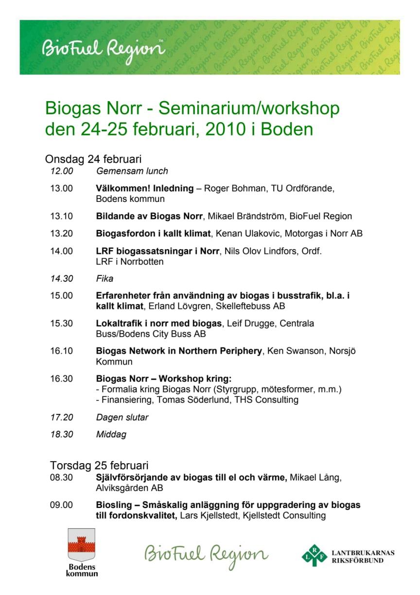Program Biogas Norr 24-25 Boden