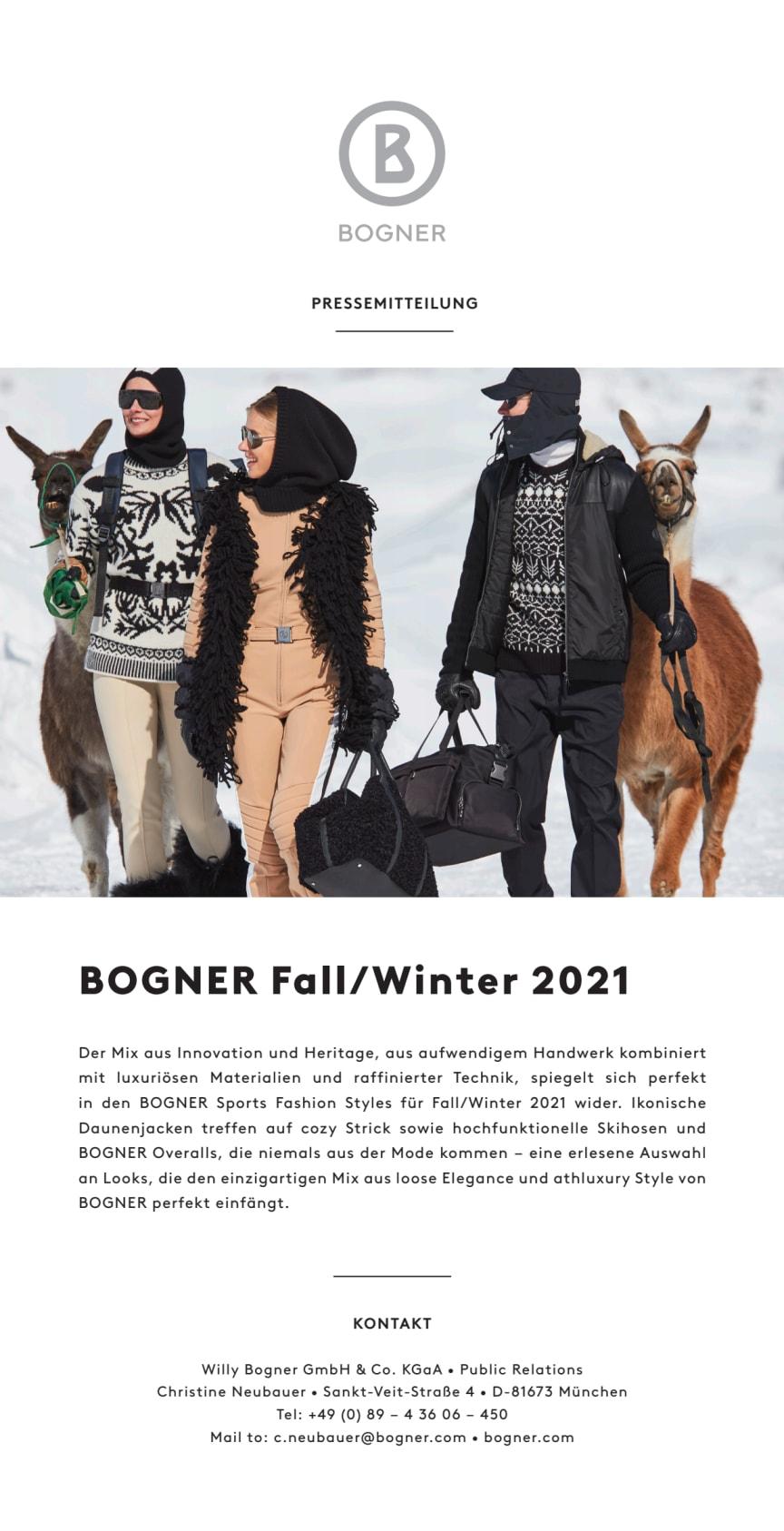 BOGNER Fall/Winter 2021