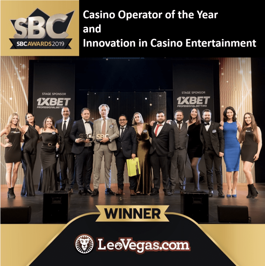 LeoVegas crowned Casino Operator of the Year and are also the Best Innovator