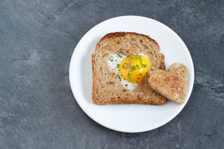 Påsk: kärleksfull äggmacka