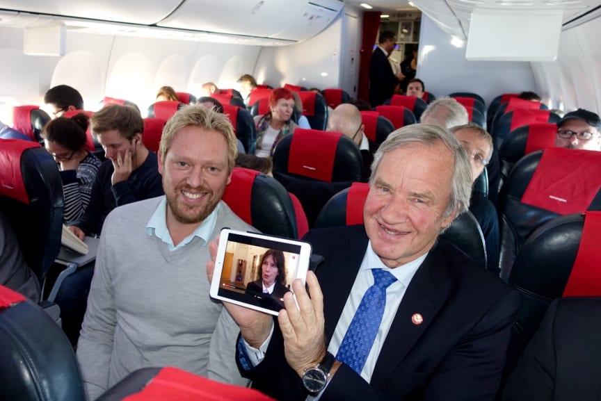 Norwegianin Live TV -lanseeraus 23.11.2015