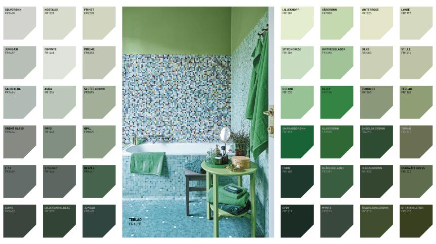 Fargekart Grønne Farger