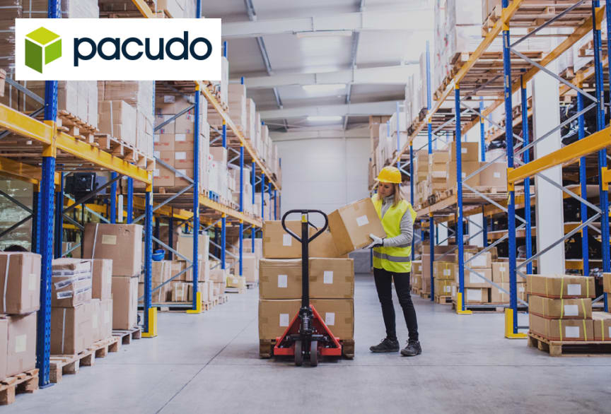 Pacudo med logotyp