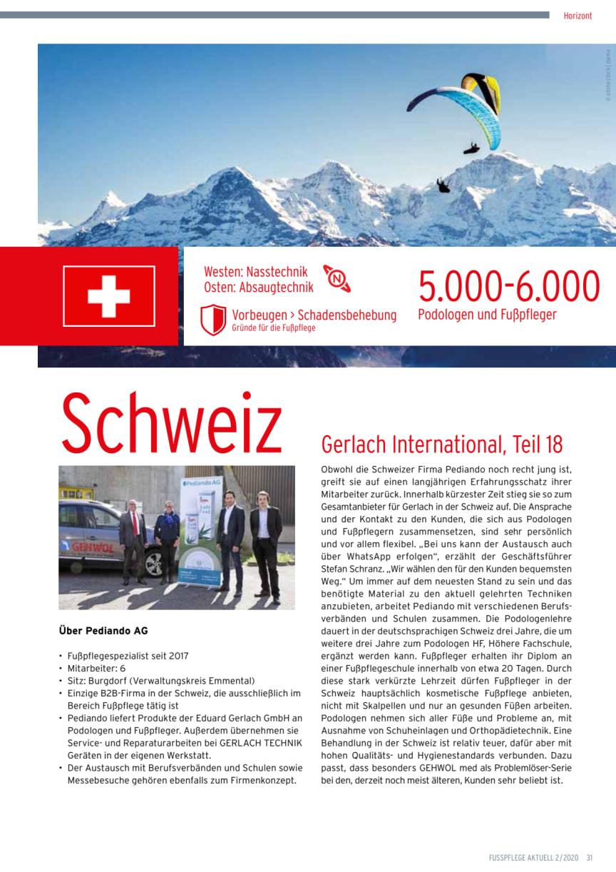 Gerlach in der Schweiz: hohe Qualitäts- und Hygienestandards