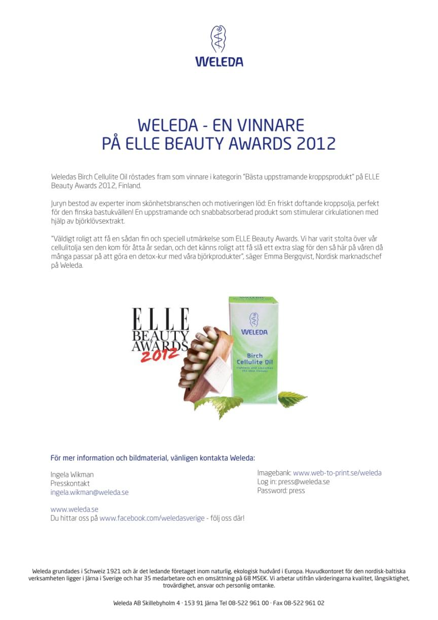 WELEDA - EN VINNARE PÅ ELLE BEAUTY AWARDS 2012