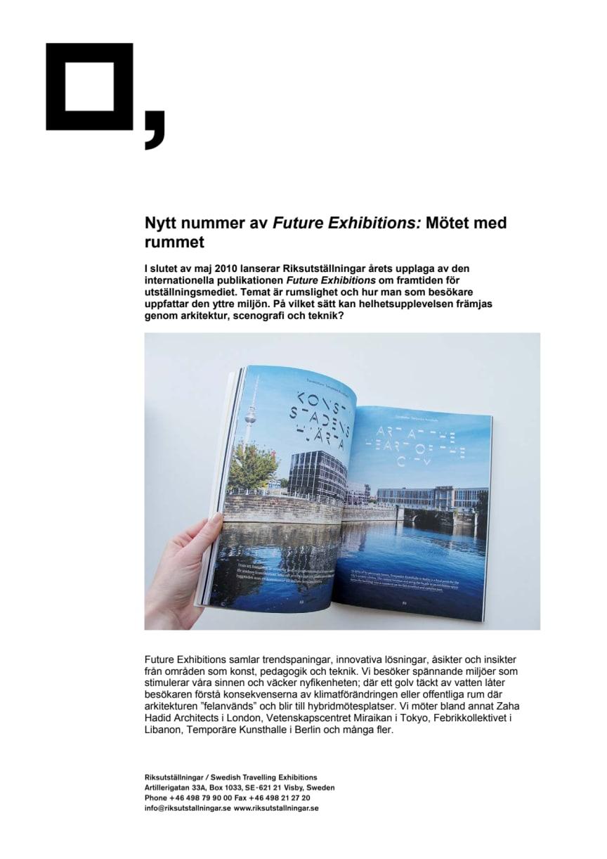 Nytt nummer av Future Exhibitions - Mötet med rummet