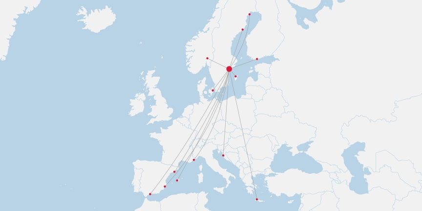 Stockholm Route Map July 2020