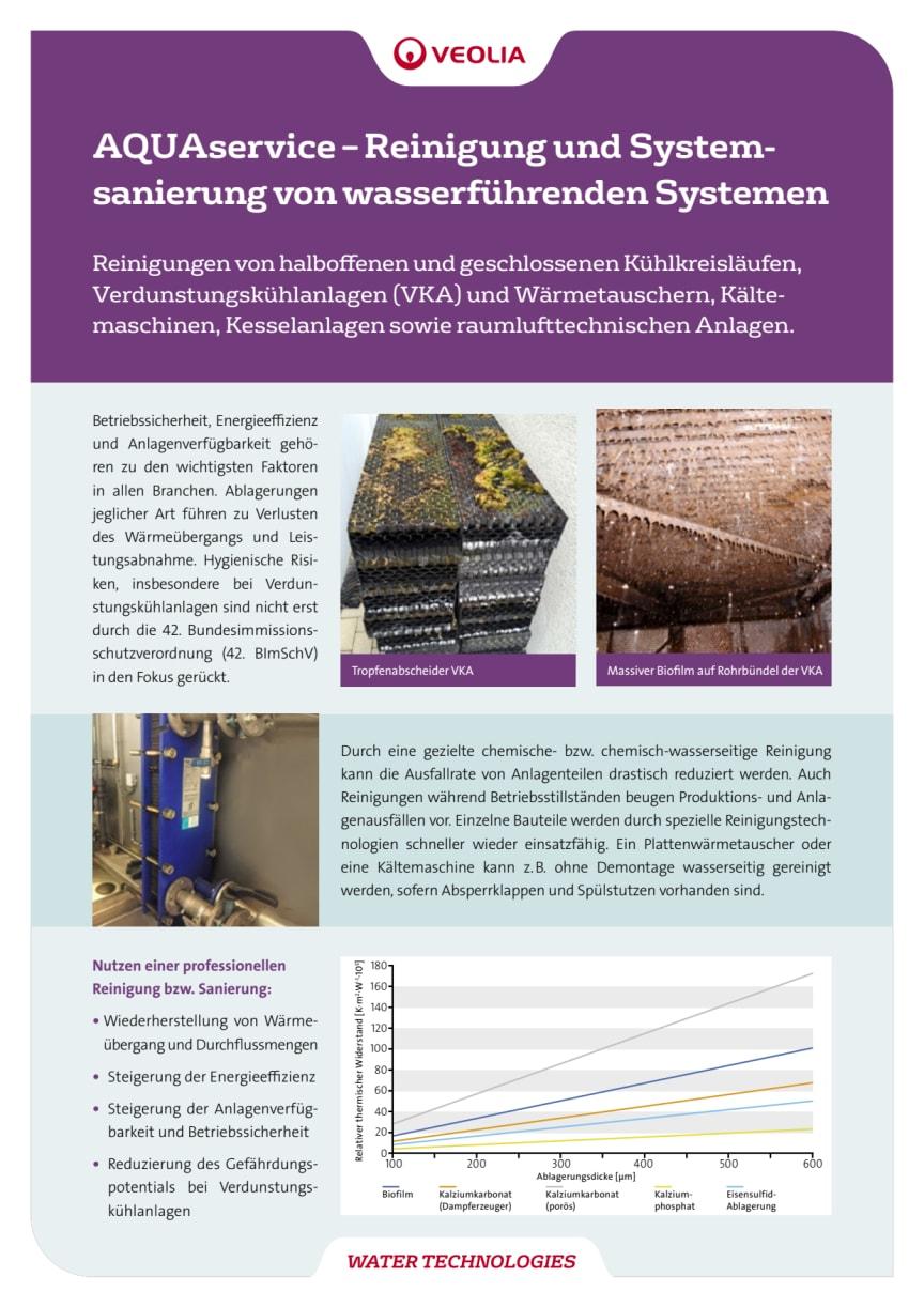 AquaSERVICE zur Reinigung von Kühltürmen und Verdunstungskühlanlagen