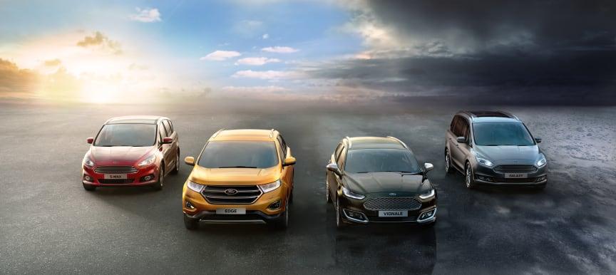 Ford utvider sitt sortiment med AWD til nå å bli 9 modeller i begynnelsen av 2016