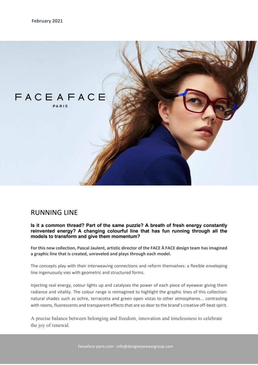 RUNNING LINE - FACE A FACE SPRING 21 COLLECTION