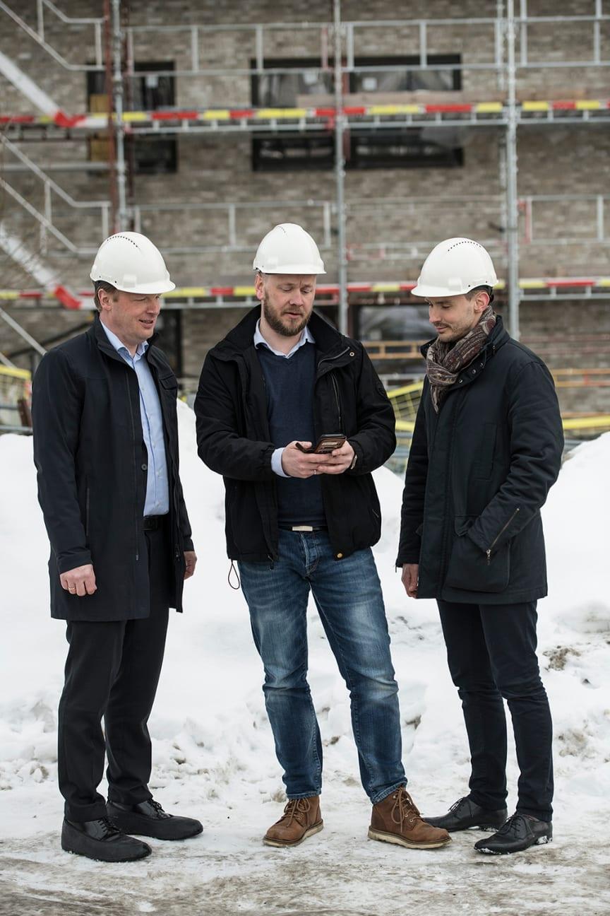 Jon Christian Hillestad (leder for Telia Bedrift). Frank Wehus (adm. dir. i Effera) og Andreas Karlsson (Head of Telia Next)