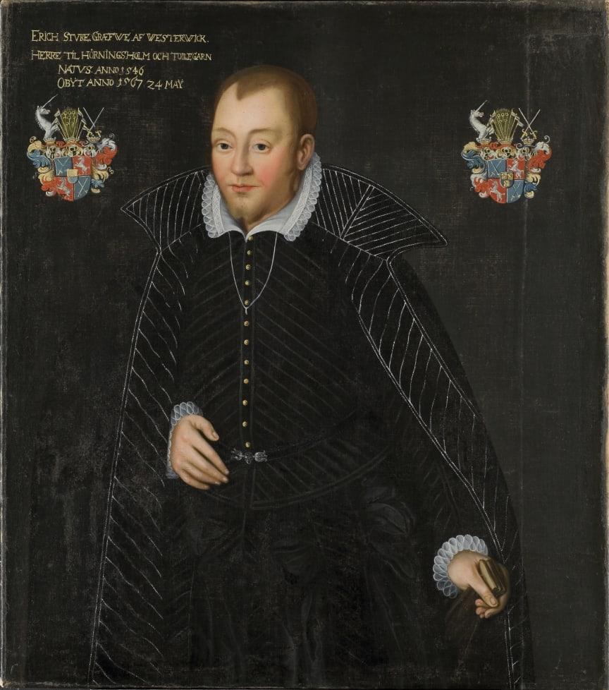 Ett av få bevarade 1500-talsplagg - Erik Stures dräkt buren vid Sturemorden