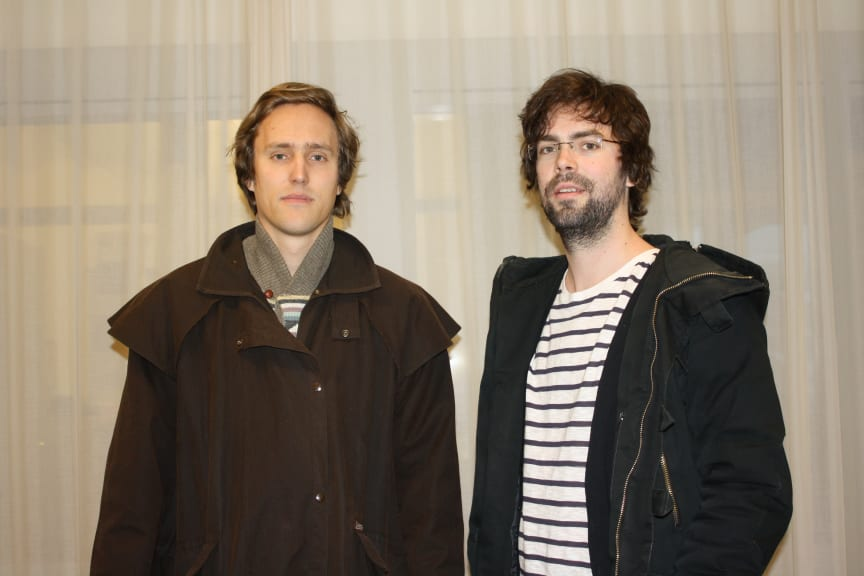 Vinnarna Jonas Berg och Benjamin Holmström