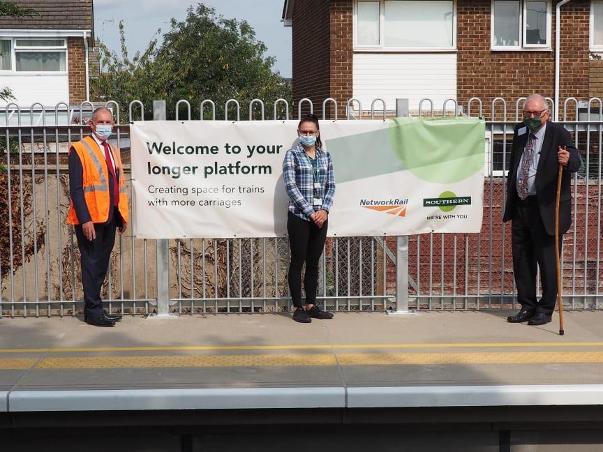 Longer platforms at three Sussex stations