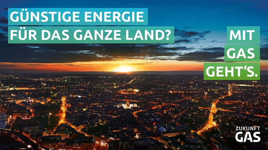 Günstige Energie für das ganze Land? Mit Gas geht's!