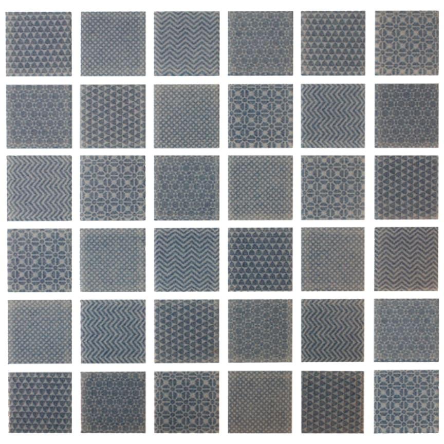 Mosaik Eventyr Moster Blå 30x30, 698 kr. M2.