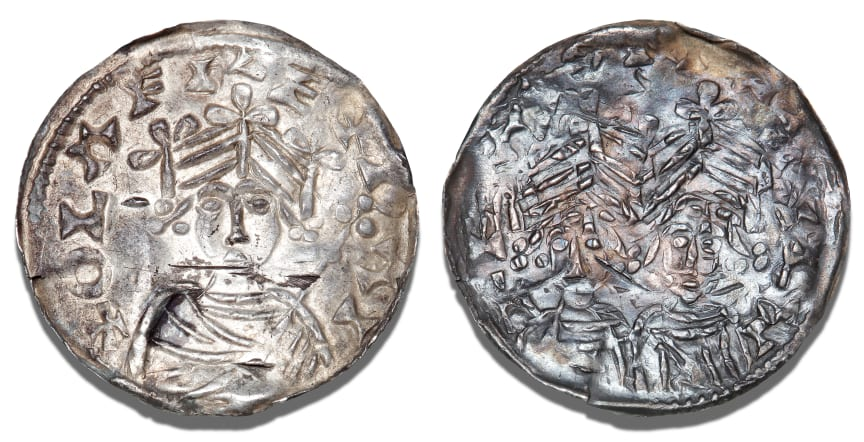 Rare Coin from the Reign of Oluf Hunger. Estimate: DKK 120,000-140,000 / € 16,000-18,500.