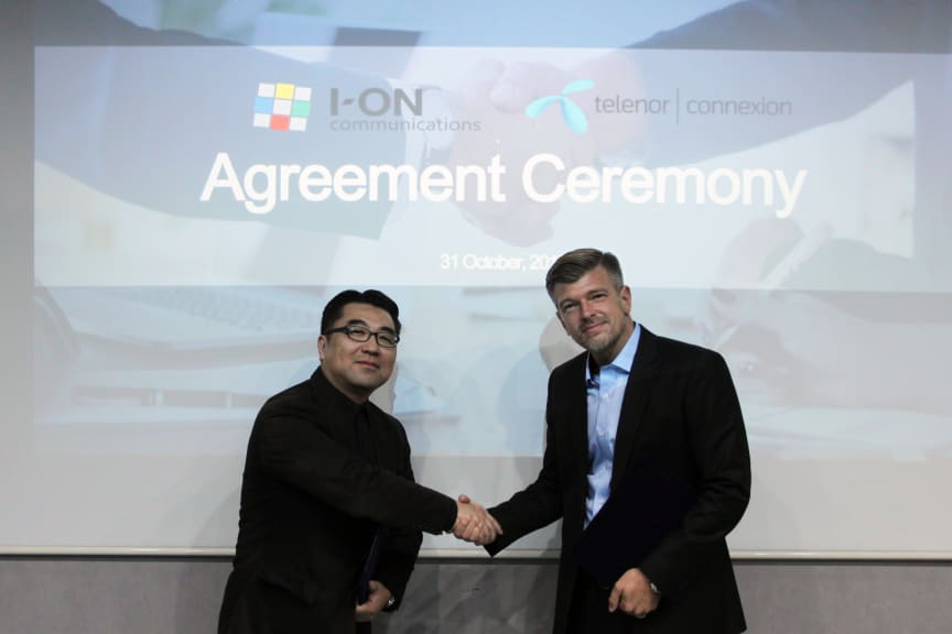 Representatives of I-ON Communications  and Telenor Connexion