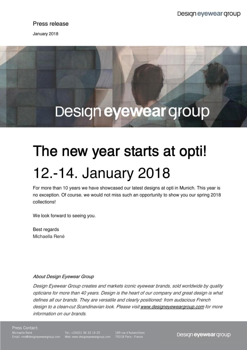 The new year starts at opti!