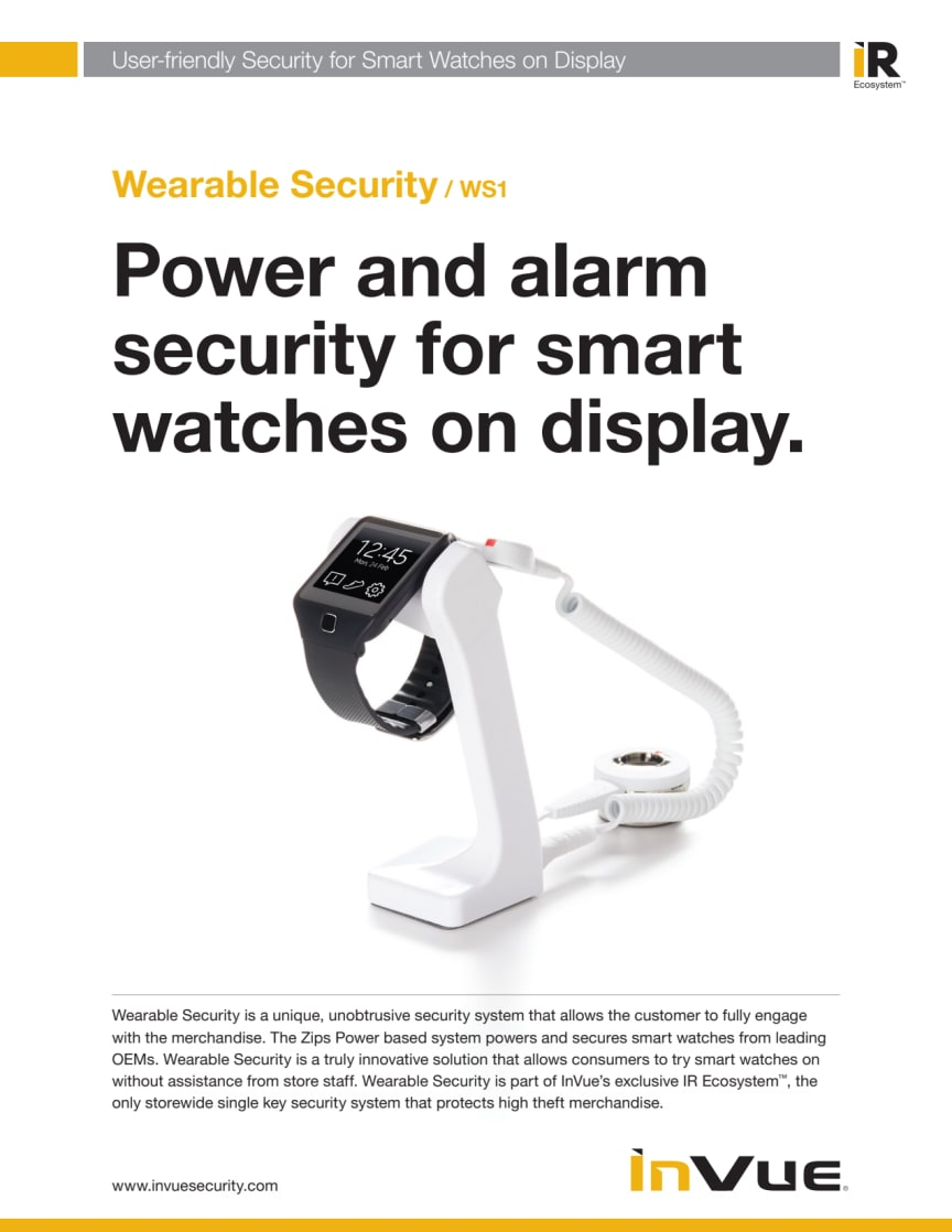 Varularm från Gate Security - Wearable Security WS1, InVue