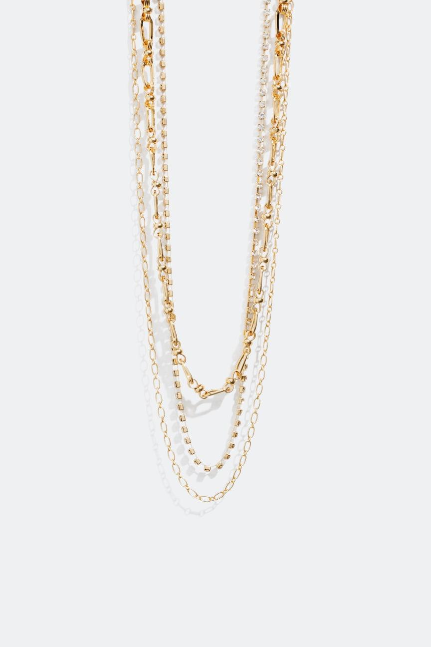 Halsband med tre kedjor